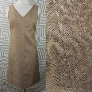 New Talbots Dress size 6 Sleeveless Shift Metallic